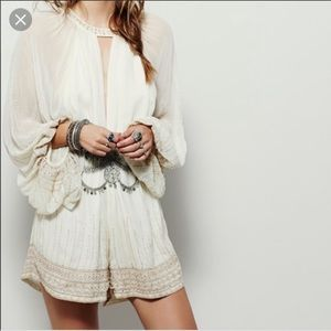 Free People beaded romper